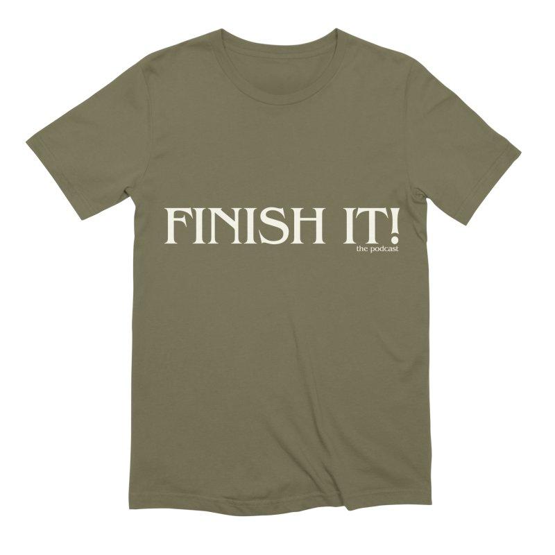 Finish It! Podcast Logo Men's Extra Soft T-Shirt by Finish It! Podcast Merchzone