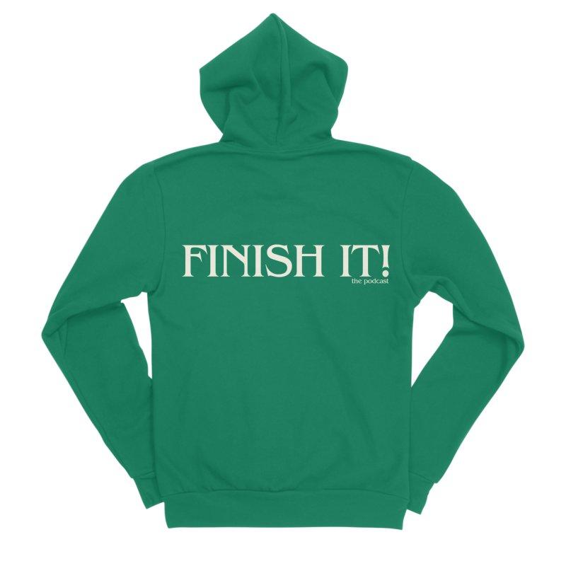Finish It! Podcast Logo Men's Sponge Fleece Zip-Up Hoody by Finish It! Podcast Merchzone