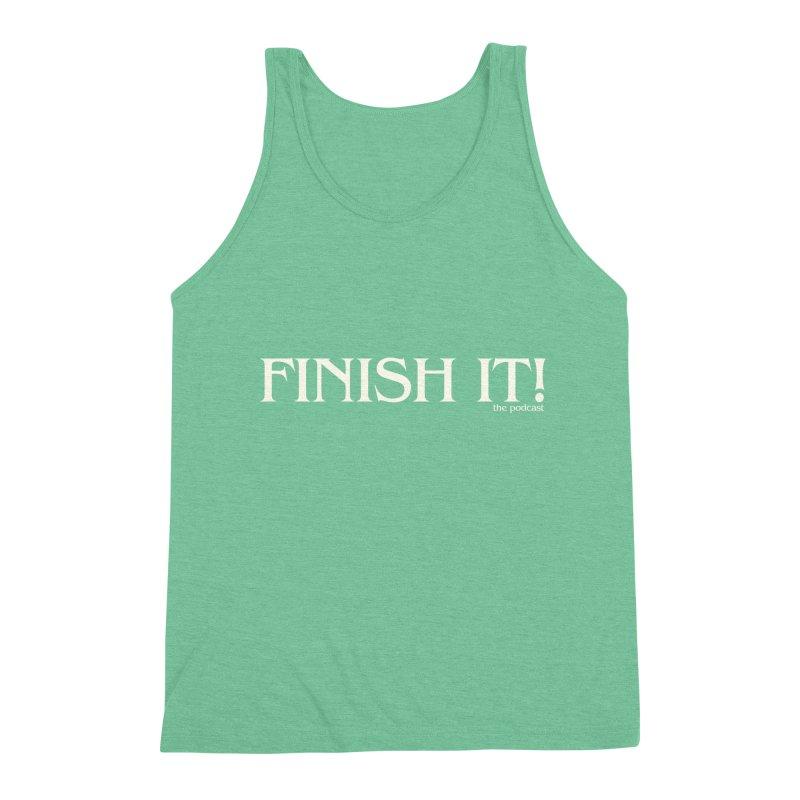 Finish It! Podcast Logo Men's Triblend Tank by Finish It! Podcast Merchzone