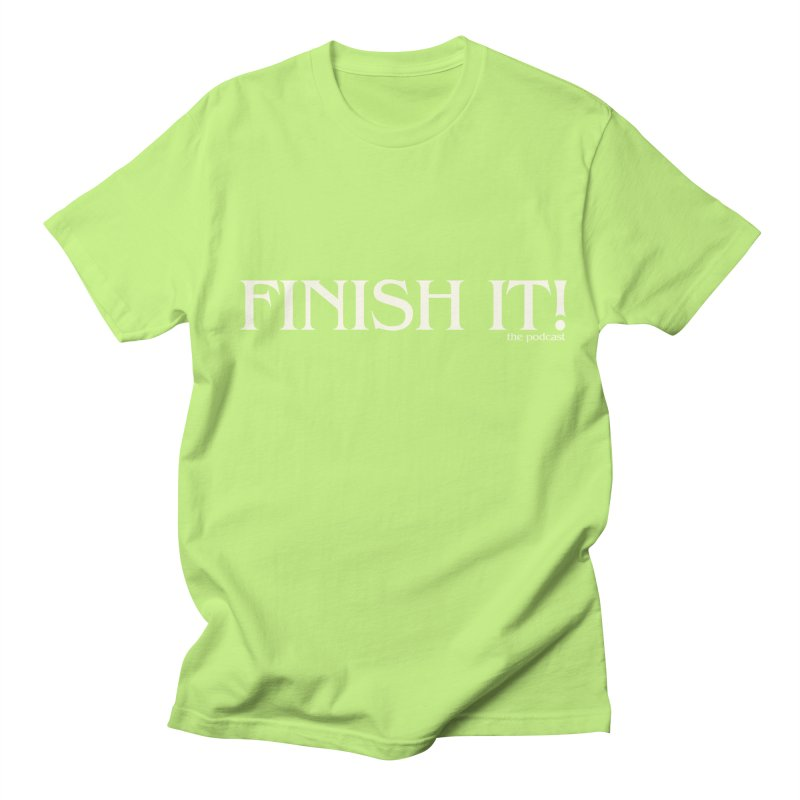 Finish It! Podcast Logo Men's Regular T-Shirt by Finish It! Podcast Merchzone