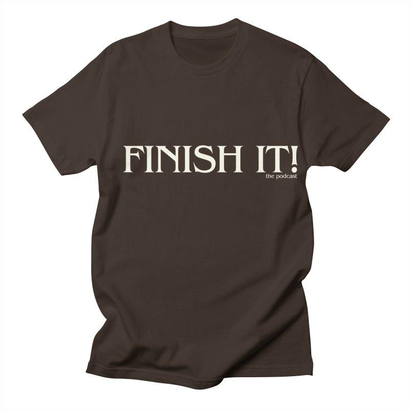 Finish It! Podcast Logo Men's Regular T-Shirt by Finish It! Podcast Merchzone