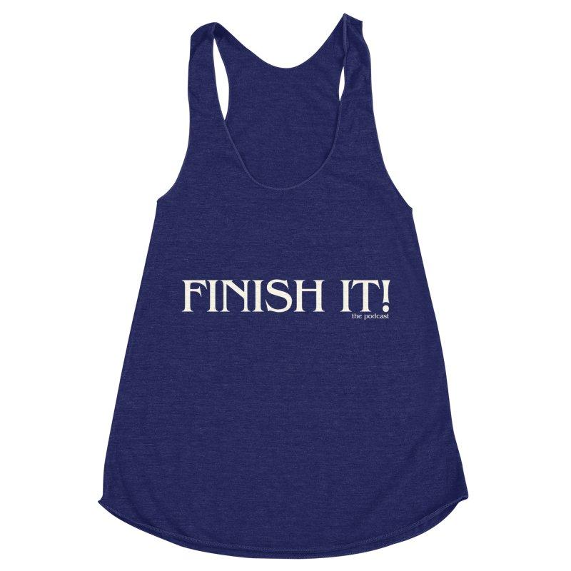 Finish It! Podcast Logo Women's Racerback Triblend Tank by Finish It! Podcast Merchzone