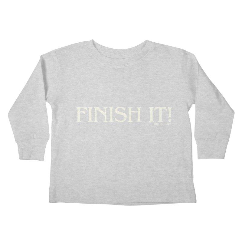 Finish It! Podcast Logo Kids Toddler Longsleeve T-Shirt by Finish It! Podcast Merchzone