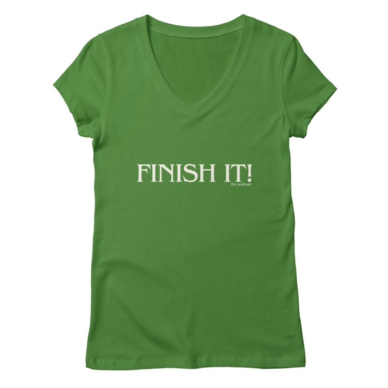 Finish It! Podcast Logo Women's Regular V-Neck by Finish It! Podcast Merchzone