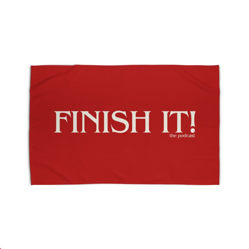 Finish It! Podcast Logo Home Rug by Finish It! Podcast Merchzone