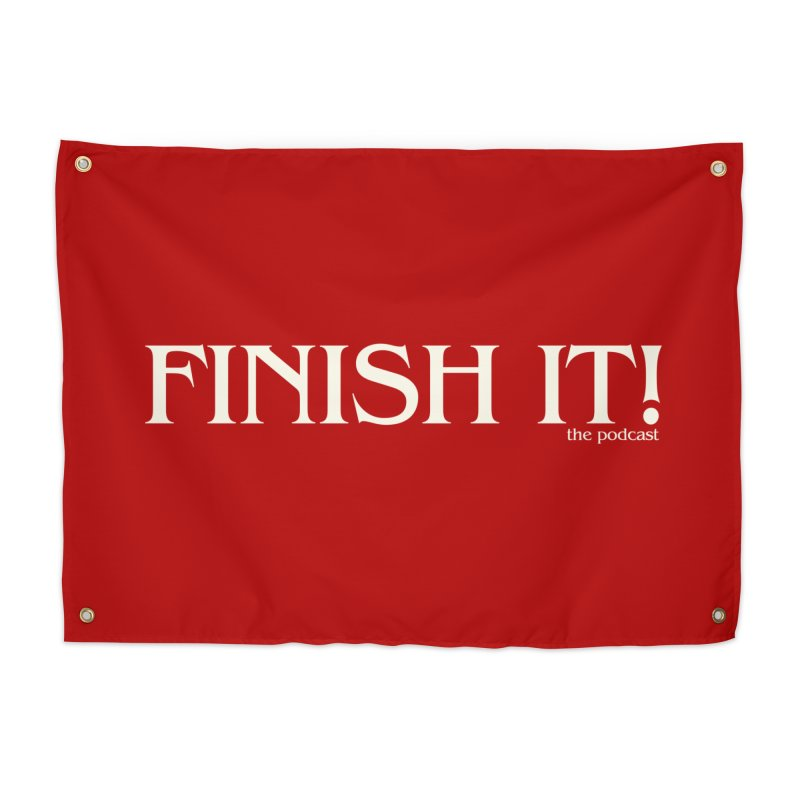 Finish It! Podcast Logo Home Tapestry by Finish It! Podcast Merchzone