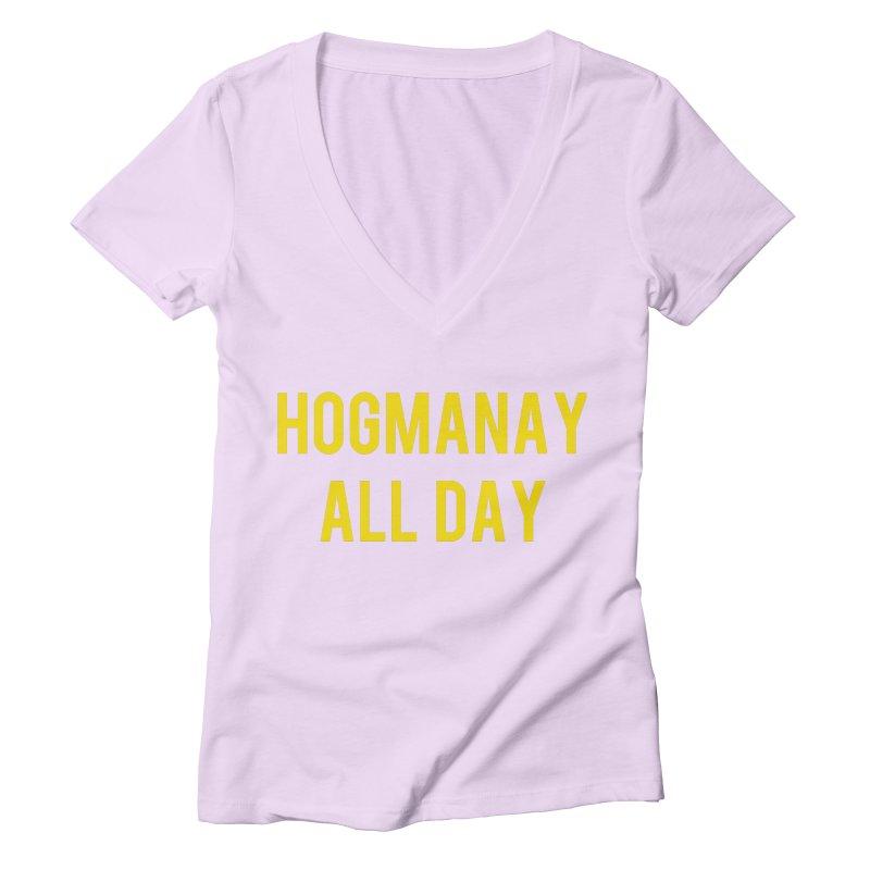 Hogmanay All Day Women's Deep V-Neck V-Neck by Finish It! Podcast Merchzone