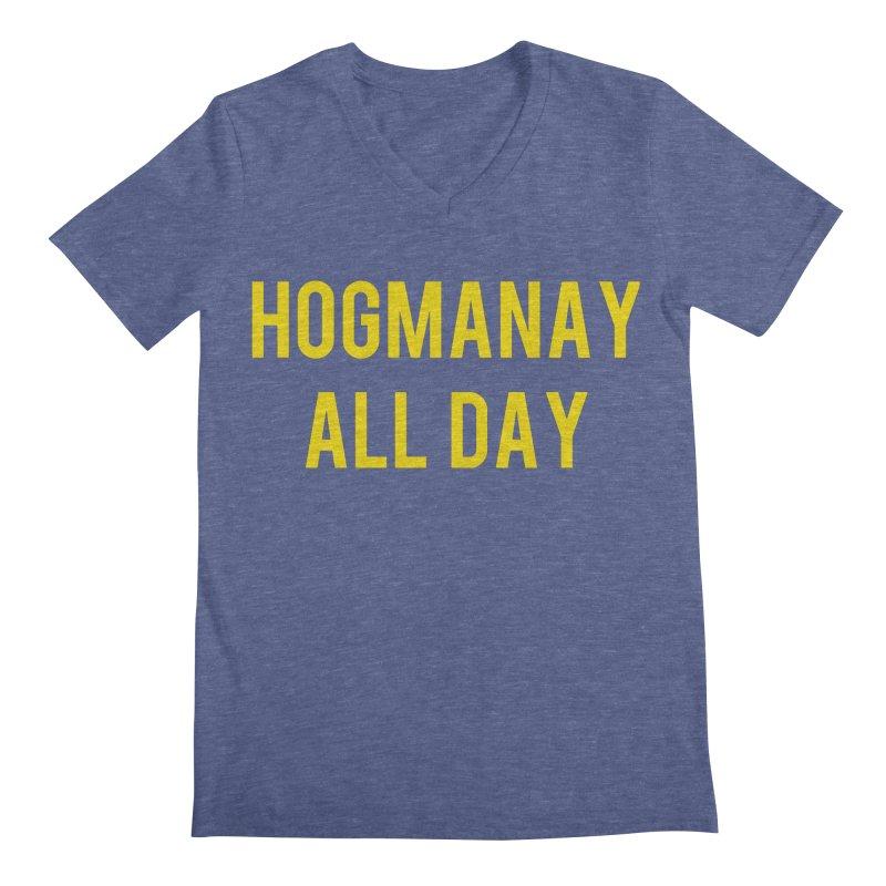 Hogmanay All Day Men's Regular V-Neck by Finish It! Podcast Merchzone