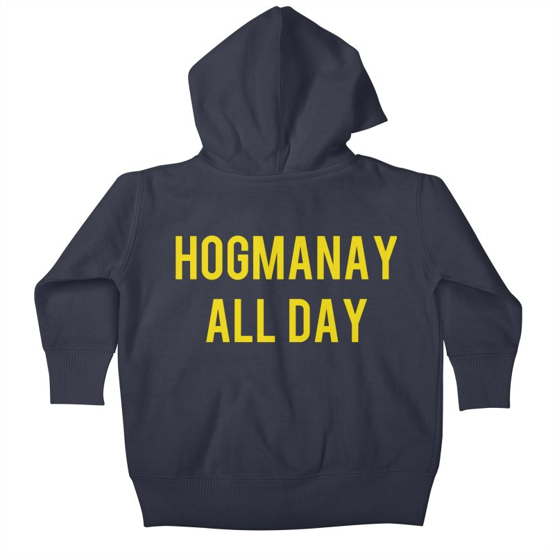 Hogmanay All Day Kids Baby Zip-Up Hoody by Finish It! Podcast Merchzone