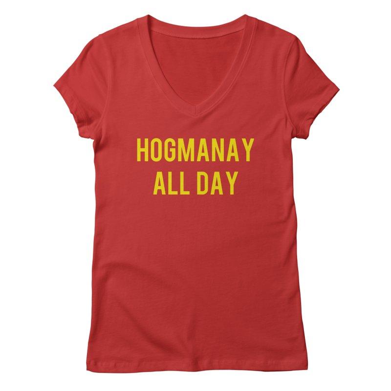 Hogmanay All Day Women's Regular V-Neck by Finish It! Podcast Merchzone