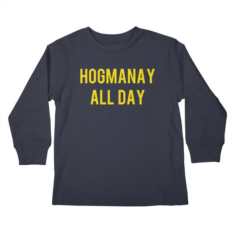 Hogmanay All Day Kids Longsleeve T-Shirt by Finish It! Podcast Merchzone