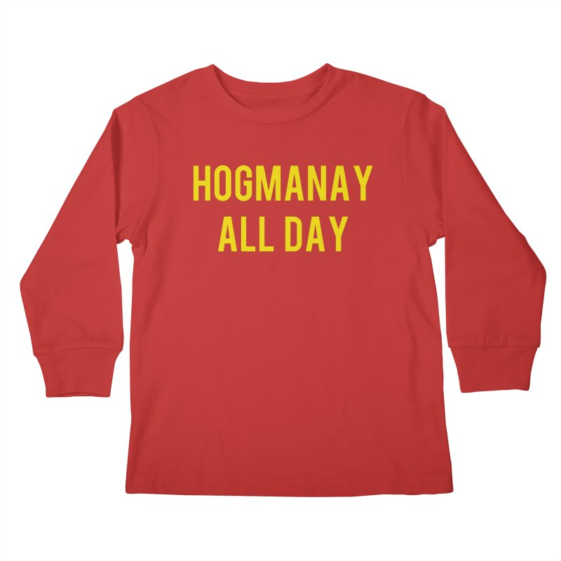 Hogmanay All Day Kids Longsleeve T-Shirt by Finish It! Podcast Merchzone