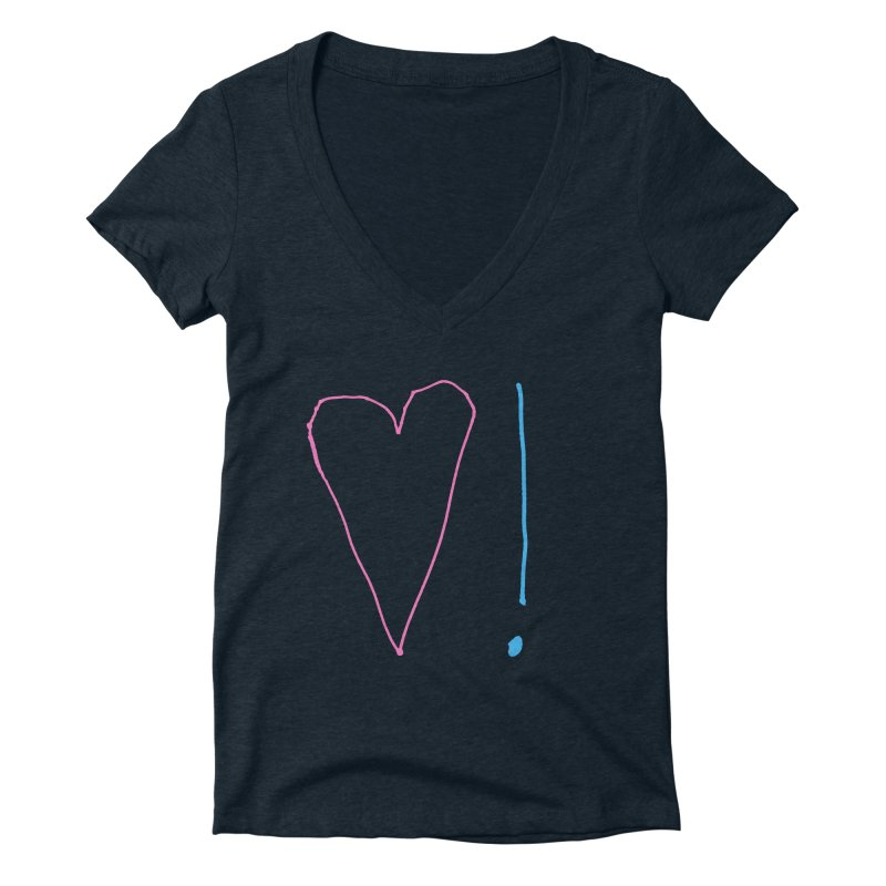 Love and Excitement Women's Deep V-Neck V-Neck by Finish It! Podcast Merchzone