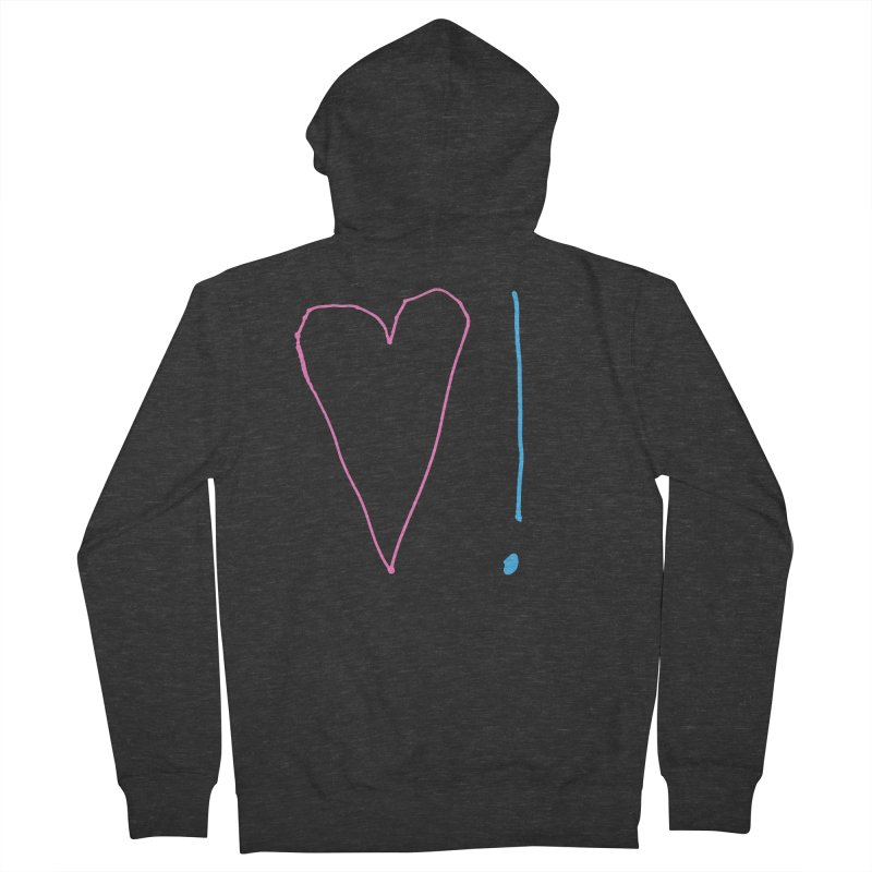 Love and Excitement Women's French Terry Zip-Up Hoody by Finish It! Podcast Merchzone