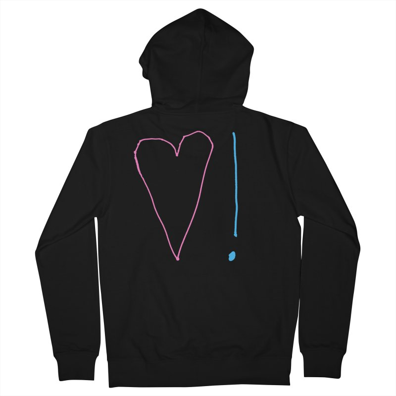 Love and Excitement Men's French Terry Zip-Up Hoody by Finish It! Podcast Merchzone