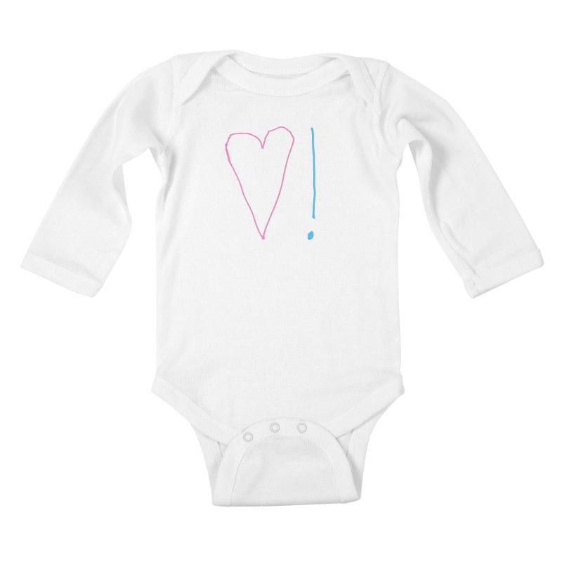 Love and Excitement Kids Baby Longsleeve Bodysuit by Finish It! Podcast Merchzone