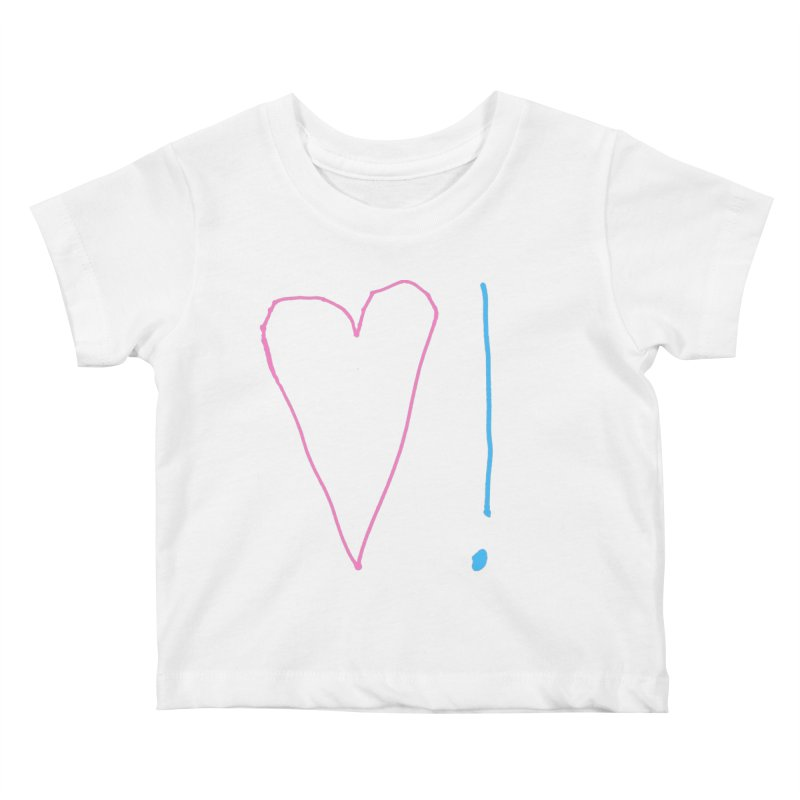 Love and Excitement Kids Baby T-Shirt by Finish It! Podcast Merchzone