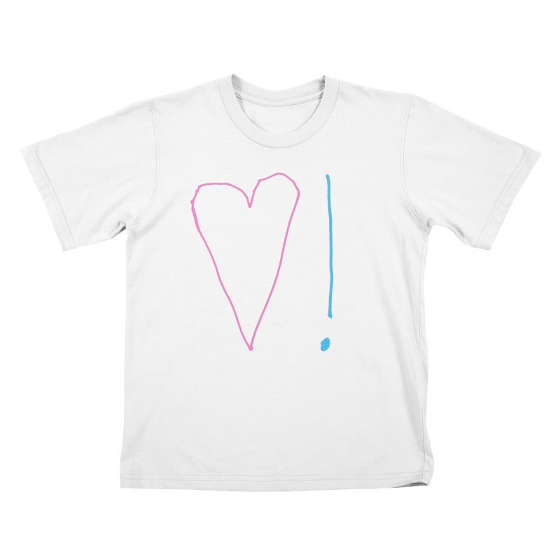 Love and Excitement Kids T-Shirt by Finish It! Podcast Merchzone
