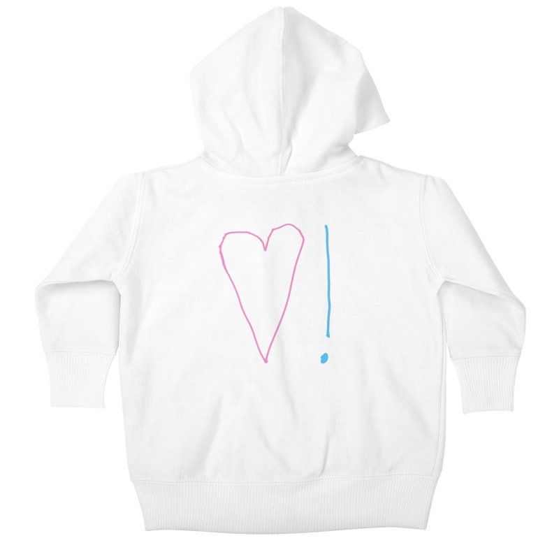 Love and Excitement Kids Baby Zip-Up Hoody by Finish It! Podcast Merchzone