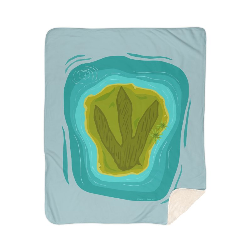 Dino Island Splashdown Home Blanket by Finish It! Podcast Merchzone