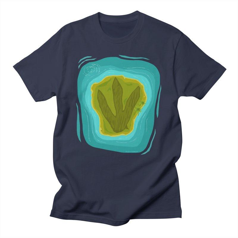 Dino Island Splashdown Men's T-Shirt by Finish It! Podcast Merchzone