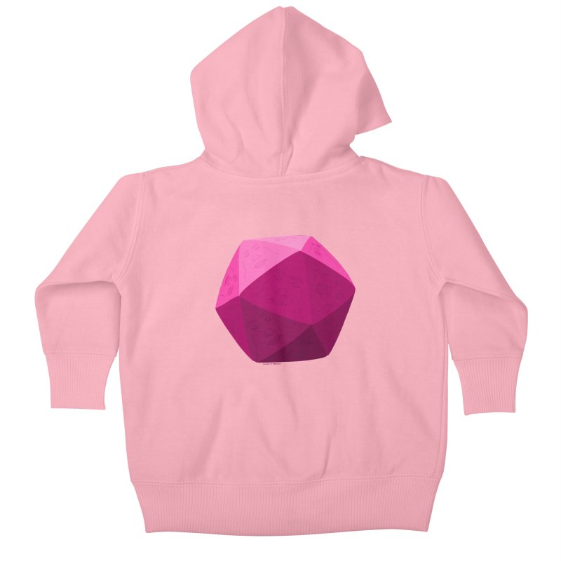 20 Sided Guy Kids Baby Zip-Up Hoody by Finish It! Podcast Merchzone