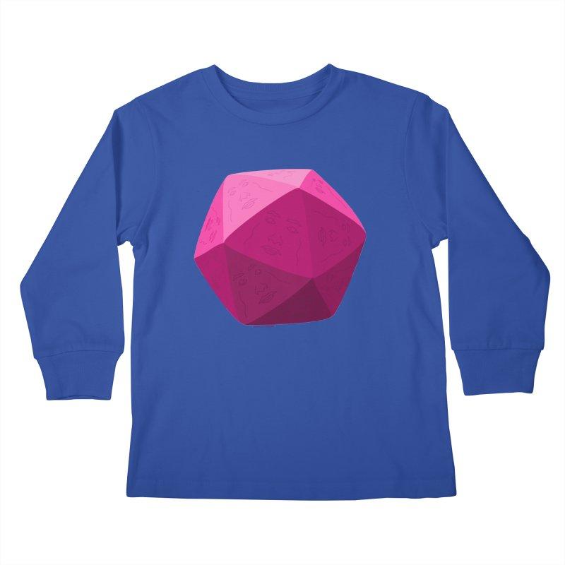 20 Sided Guy Kids Longsleeve T-Shirt by Finish It! Podcast Merchzone