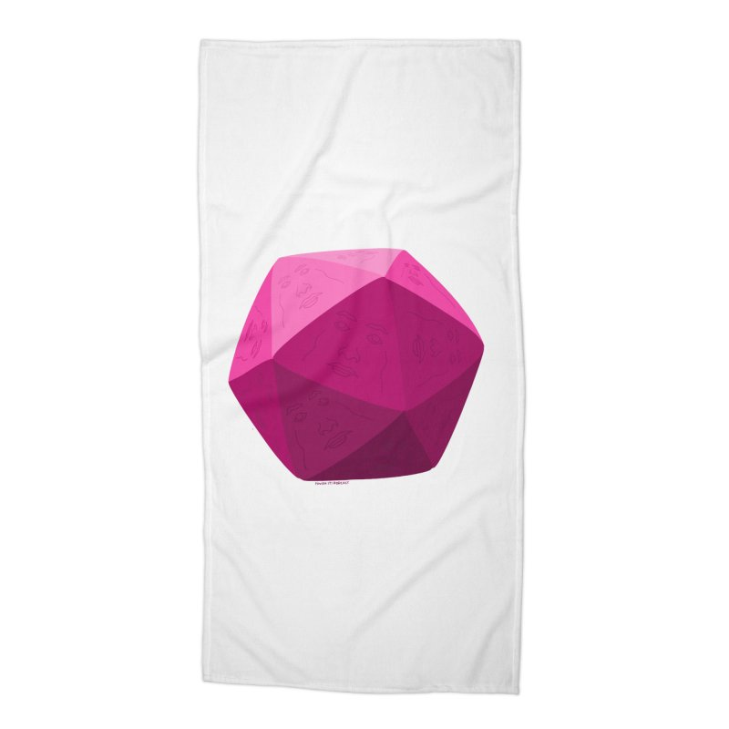 20 Sided Guy Accessories Beach Towel by Finish It! Podcast Merchzone