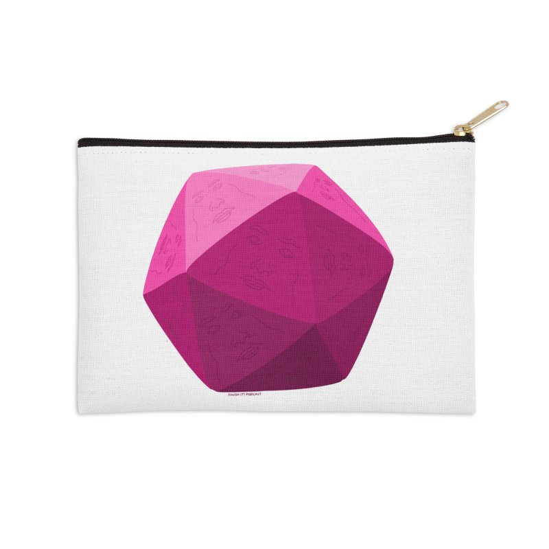 20 Sided Guy Accessories Zip Pouch by Finish It! Podcast Merchzone