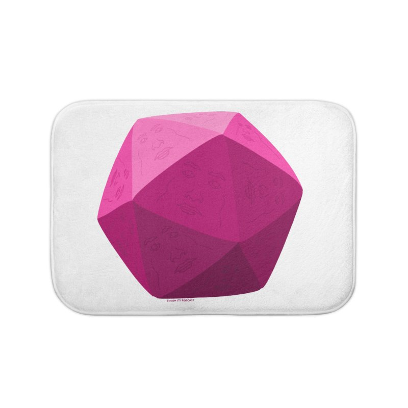 20 Sided Guy Home Bath Mat by Finish It! Podcast Merchzone