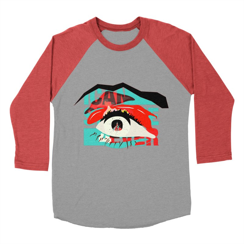 I Can See Forever Men's Baseball Triblend Longsleeve T-Shirt by finishyourmeal's Artist Shop