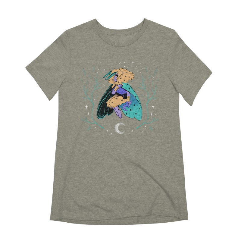 Non-binary Moth Warrior Women's T-Shirt by finkenstein's Artist Shop