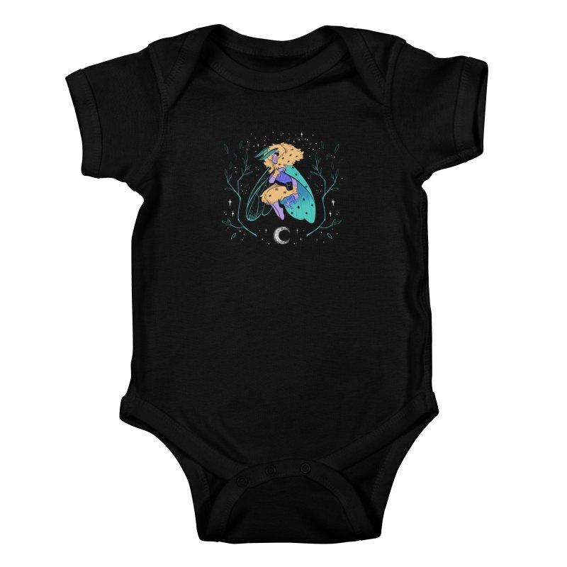 Non-binary Moth Warrior Kids Baby Bodysuit by finkenstein's Artist Shop