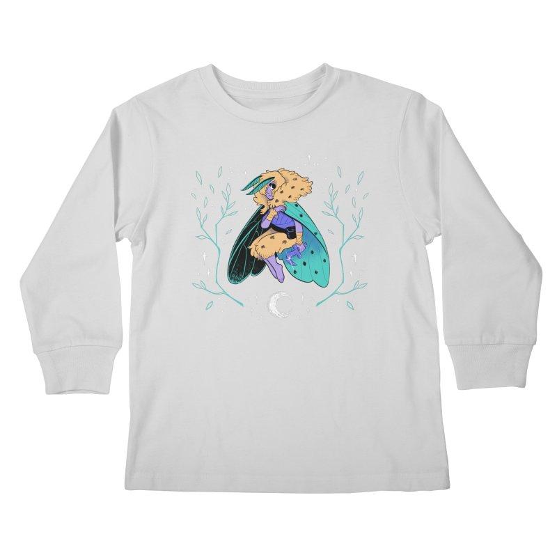 Non-binary Moth Warrior Kids Longsleeve T-Shirt by finkenstein's Artist Shop