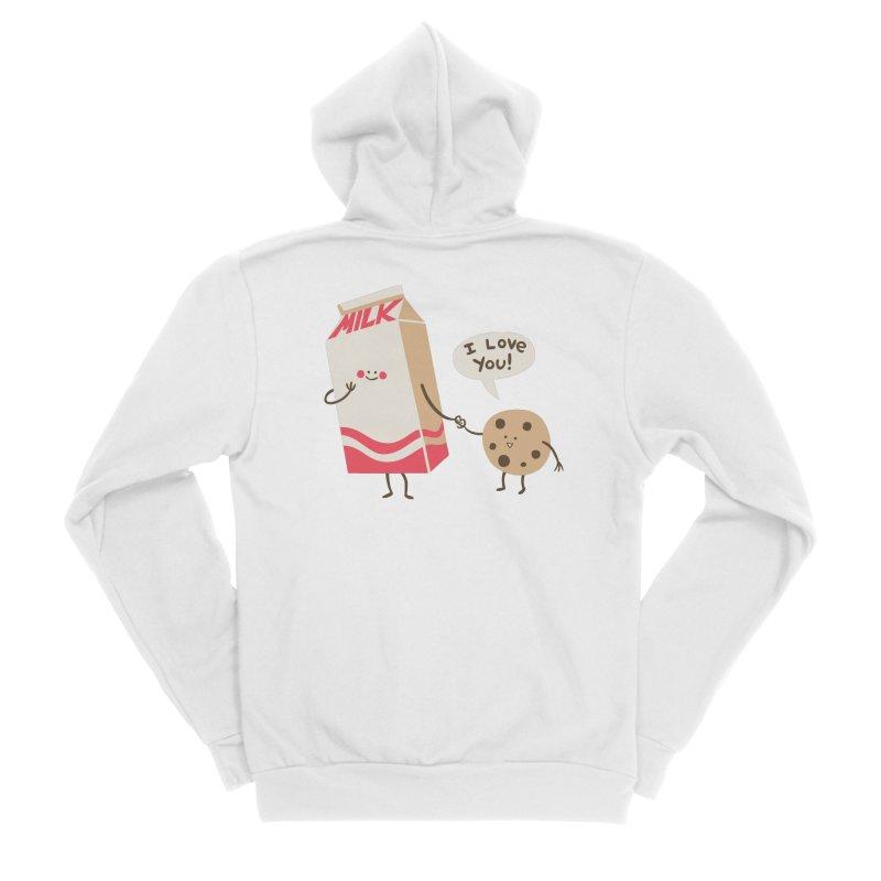 Cookie Loves Milk Women's Zip-Up Hoody by finkenstein's Artist Shop