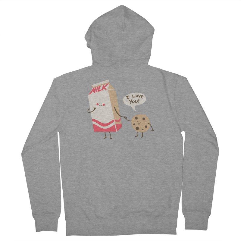 Cookie Loves Milk Men's Zip-Up Hoody by finkenstein's Artist Shop