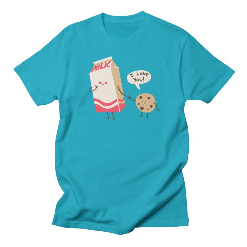 Cookie Loves Milk Men's T-Shirt by finkenstein's Artist Shop