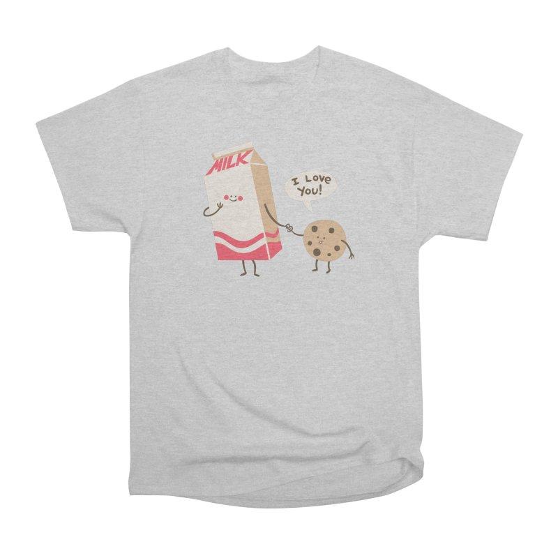 Cookie Loves Milk Men's T-Shirt by finkenstein's Artist Shop