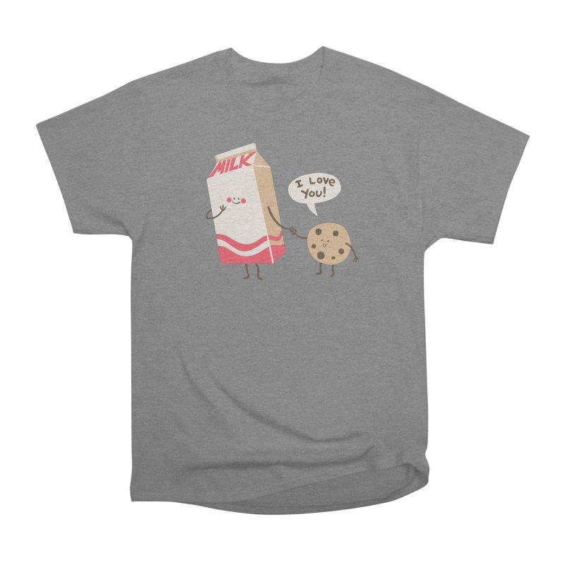 Cookie Loves Milk Men's Heavyweight T-Shirt by finkenstein's Artist Shop