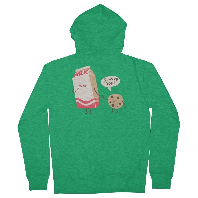 Cookie Loves Milk Women's Zip-Up Hoody by finkenstein's Artist Shop