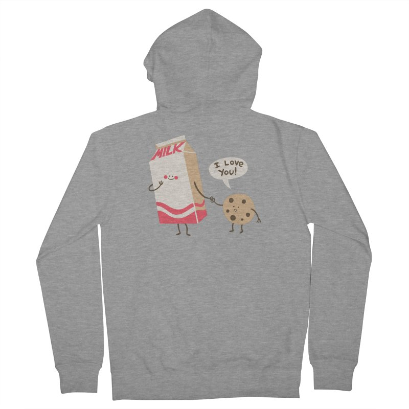 Cookie Loves Milk Women's French Terry Zip-Up Hoody by finkenstein's Artist Shop