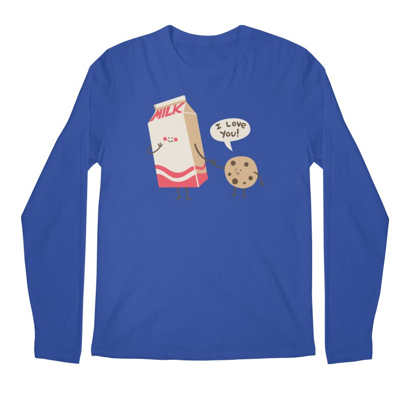 Cookie Loves Milk Men's Longsleeve T-Shirt by finkenstein's Artist Shop