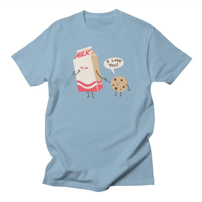 Cookie Loves Milk Men's Regular T-Shirt by finkenstein's Artist Shop