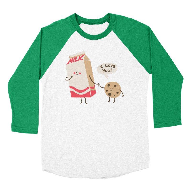 Cookie Loves Milk Women's Baseball Triblend Longsleeve T-Shirt by finkenstein's Artist Shop