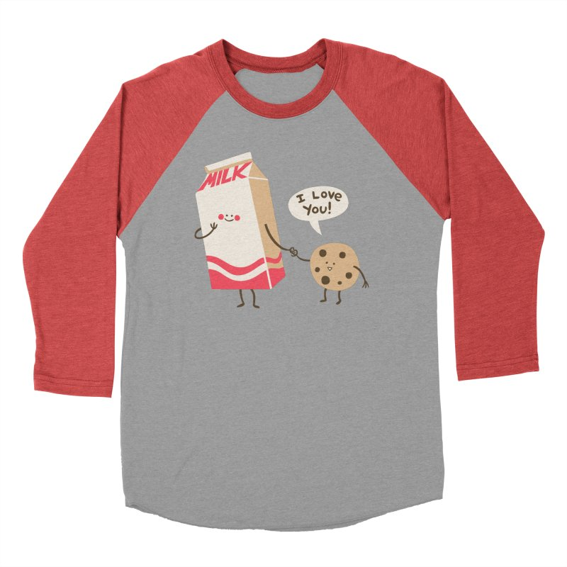 Cookie Loves Milk in Women's Baseball Triblend T-Shirt Chili Red Sleeves by finkenstein's Artist Shop