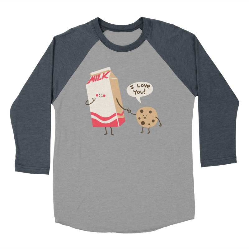 Cookie Loves Milk Men's Baseball Triblend T-Shirt by finkenstein's Artist Shop