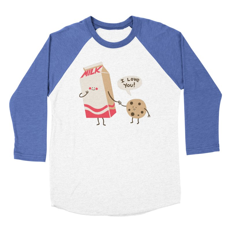 Cookie Loves Milk Men's Baseball Triblend Longsleeve T-Shirt by finkenstein's Artist Shop