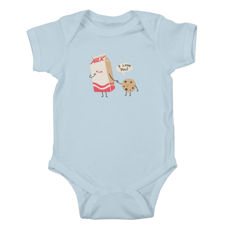 Cookie Loves Milk Kids Baby Bodysuit by finkenstein's Artist Shop