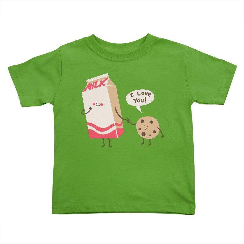 Cookie Loves Milk Kids Toddler T-Shirt by finkenstein's Artist Shop