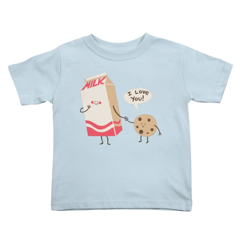 Cookie Loves Milk Kids Toddler T-Shirt by finkenstein's Artist Shop